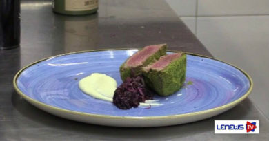 Filetto in crosta verde con radicchio brasato presso U'Vulesce