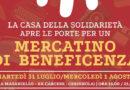 """Mercatino di beneficenza presso """"la casa della solidarietà"""""""