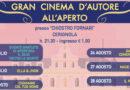 """Cinema all'aperto intitolato """"D'Autore – D'Autore D'Estate"""""""