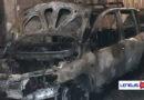 Auto date alle fiamme nella notte